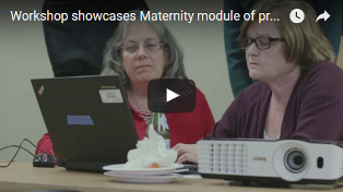 Screenshot and link to Maternity clinical transformation workshop video